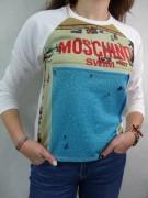 MOSCHINO efektowna damska bluza BIAŁA -50 %%% roz.M