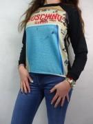 MOSCHINO efektowna damska bluza CZARNA -50 %%% roz.L