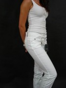 CNC COSTUME NATIONAL damskie markowe spodnie białe ITALY -80%%%
