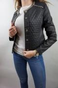 LIU JO markowa kurtka pikowana zdobiona -35% ITALY BLACK