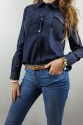 TRUSSARDI jeansowa damska koszula -50 % ITALY IT44