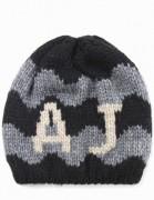 ARMANI JEANS ciepła czapka męska EFEKTOWNA ciepła