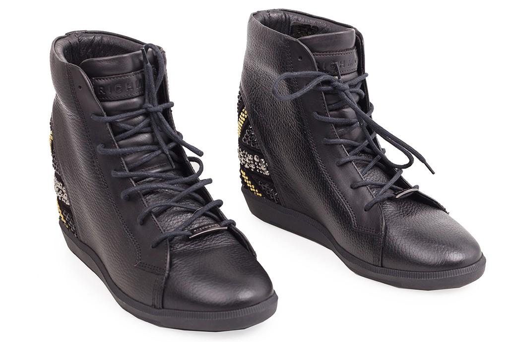 d051f61c JOHN RICHMOND skórzane damskie buty na koturnie UNIKATOWE -50 ...