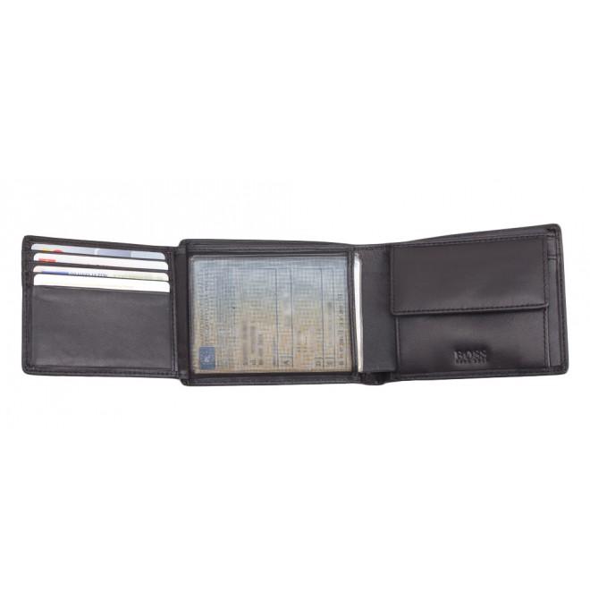 41789f9ab0fd4 Do schowka Do koszyka. Hugo Boss skórzany portfel miejsce na bilon +  siateczka. Opis. symbol luksusu i dobrego smaku