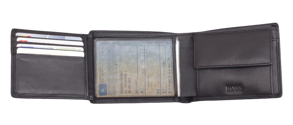 3125e218dcbd5 Hugo Boss skórzany portfel miejsce na bilon + siateczka - EITALIA.pl ...