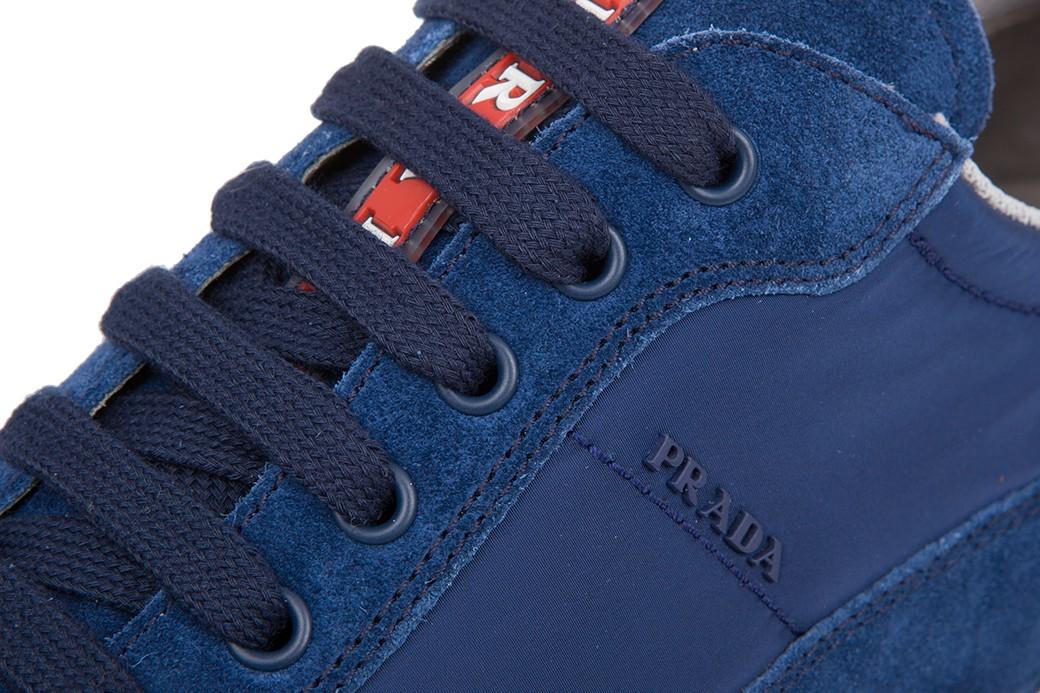 a02f94b772125 PRADA Milano damskie buty sneakersy NEW BLUE roz.40.5 40.5 - EITALIA ...