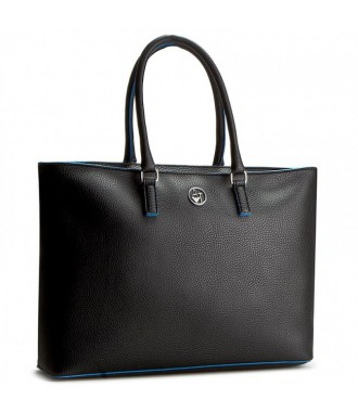 ARMANI JEANS markowa torebka SHOPPER NEW BLACK/BLUE