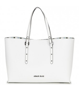 ARMANI JEANS markowa torebka SHOPPER BAG WHITE