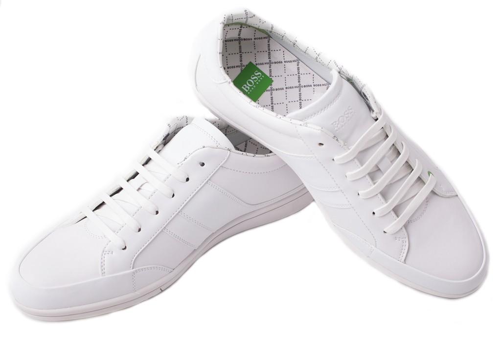 17e78f35bea0c HUGO BOSS markowe męskie buty -40%%%WHITE biały, 43 - EITALIA.pl ...