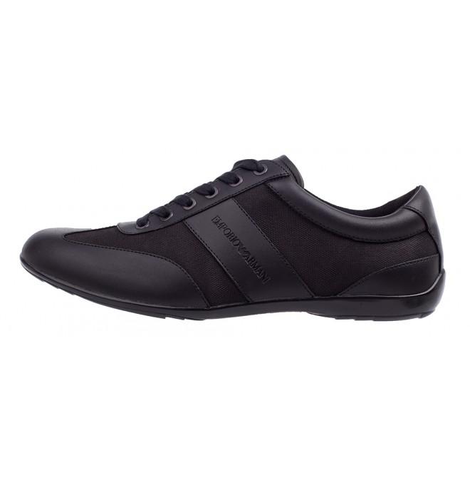 5f8521fa EMPORIO ARMANI markowe włoskie sneakersy buty 2019 NOWOŚĆ czarny ...